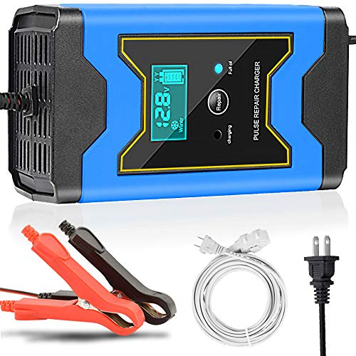 Enhanced Edition Car Battery Charger 12V/6A Automotive Smart Portable Battery...
