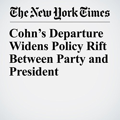 Cohn's Departure Widens Policy Rift Between Party and President copertina