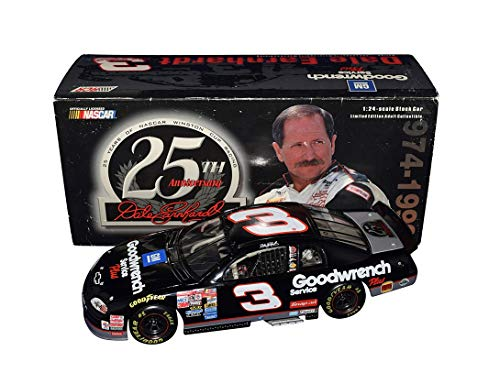 1999 Dale Earnhardt Sr. #3 GM Goodwrench Service Plus 25TH ANNIVERSARY (25 Years of Winston Cup Racing) Rare Vintage Collectible Action 1/24 Scale NASCAR Diecast Car
