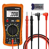 Multimeter, Multimeter Digital, Multimeter Stromprüfer Digitales Voltmeter Amperemeter Ohmmeter, Hospaop Multimeter Voltmeter Widerstand Elektronisches Messgerät Stromprüfer mit LCD-Display
