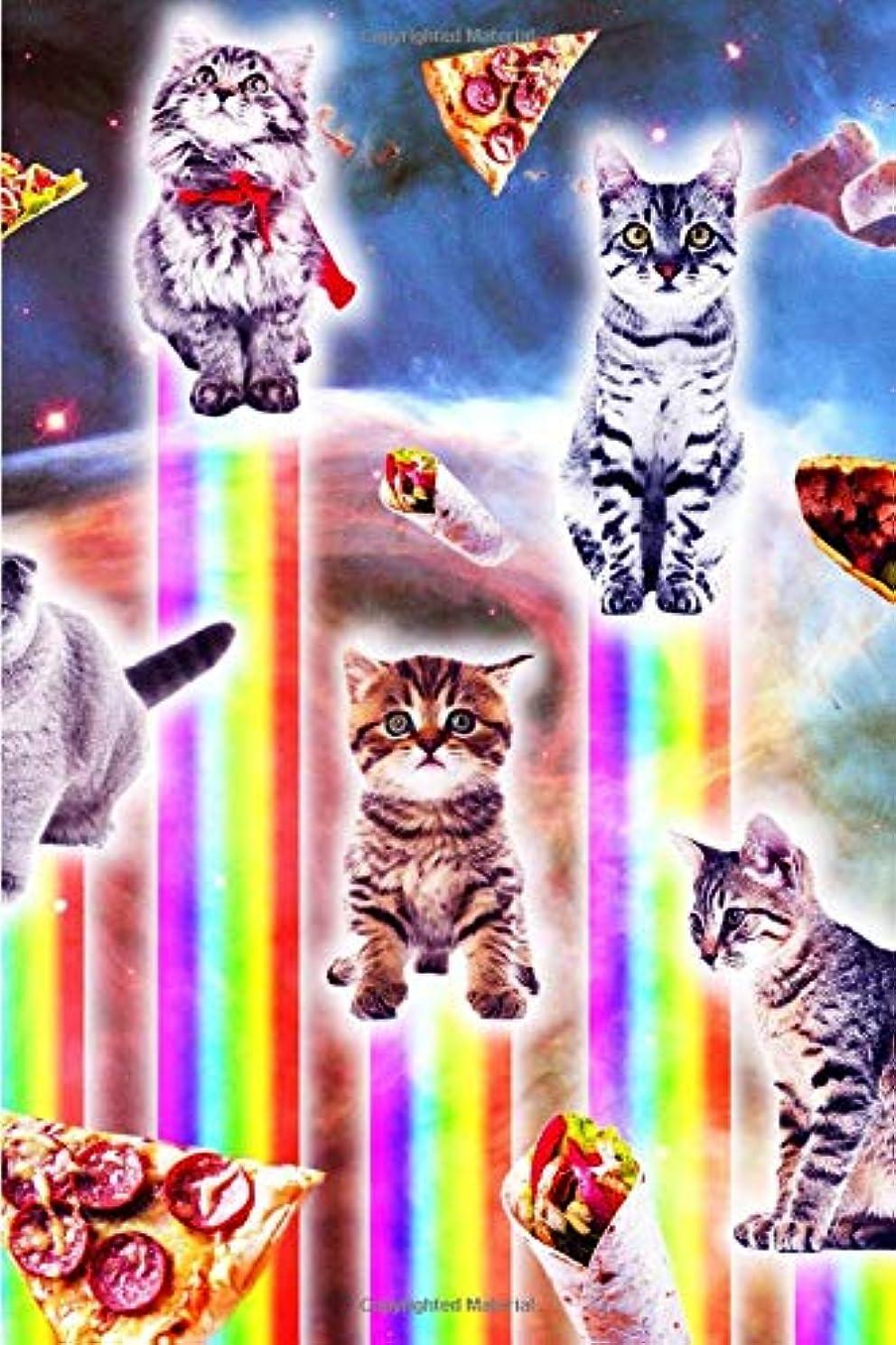 やさしくナイトスポットボートOuter Space Galaxy Cats With Rainbow Daily Weekly Planner