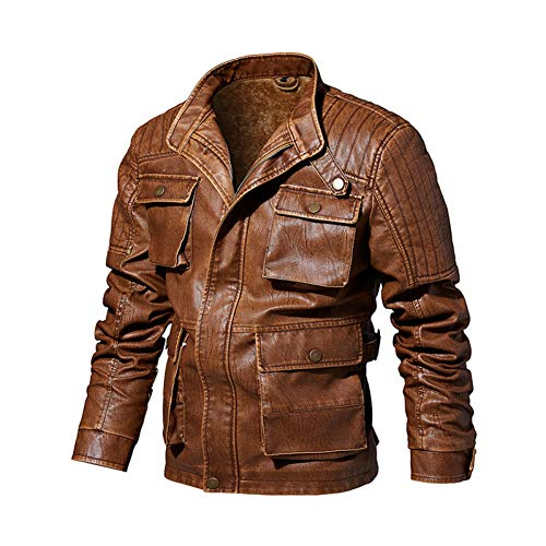 SHANGYI Jas PU Leather Jacket Heren Ontwerp Kraag Winter Motorcycle Leather Jacket Mannen Street Clothing Zip Jacket