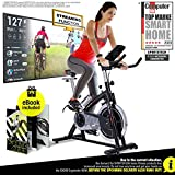 Sportstech Indoor Exercise Bike SX200 -German Quality Brand- Video Events & Multiplayer App, 22KG Flywheel, pulse belt compatible-Speedbike with belt drive-Ergometer up to 125Kg, incl. eBook