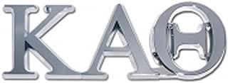 Kappa Alpha Theta Sorority Chrome Auto Emblem
