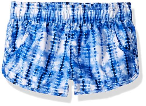 Kanu Surf Girls' Big Sandy UPF 50+ Quick Dry Beach Elastic Waist Boardshort, Willow Navy Tie Dye, Medium (8/10)