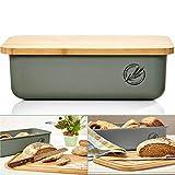 bambuswald© ökologischer Brotkasten mit Brot-Schneidebrett aus 100% Bambus   Brotbox für langanhaltende Frische