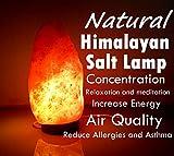 Himalayan Salt Lamp Natural Himalayan Rock Salt Lamp 2-3 Kg with Wooden Base