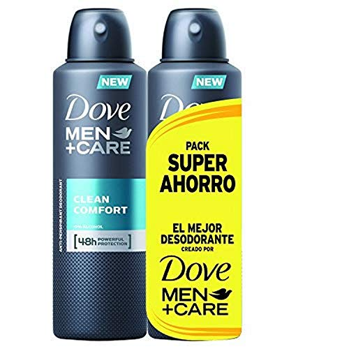 Dove Men Pack Ahorro Desodorante Clean Comfort - 2 Paquetes de 2 x 200 ml -...