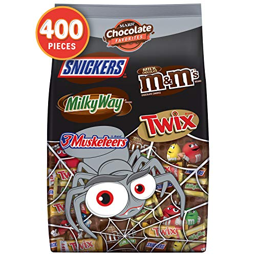 Mars Chocolate Favorites Halloween Candy Bars Variety Mix Bag (TWIX, MILKY WAY, SNICKERS, 3 MUSKETEERS, M&M