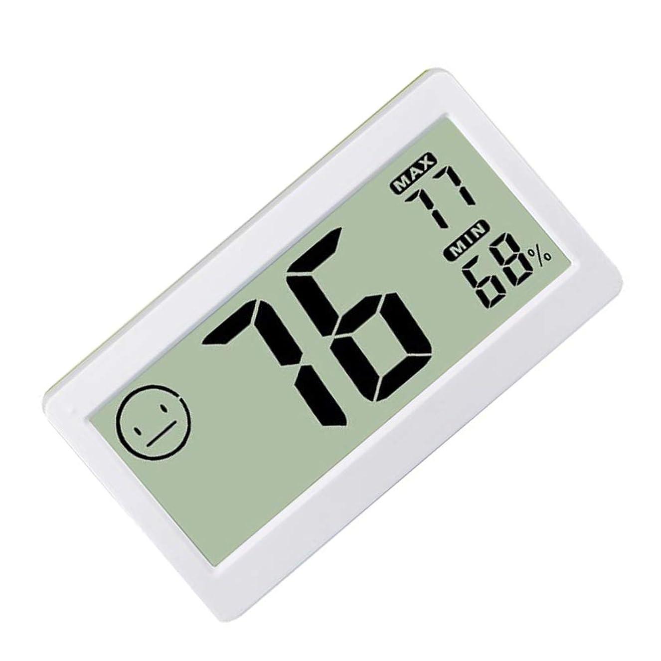 アデレードファーム謝罪デジタル温度計 小型 デジタル 磁性吸着 冷蔵庫 高精度 室内 屋外 温度計 湿度計