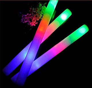 Taotuo 30 PCS LED Light-Up Foam Sticks with Three Modes Color Switching for Parties, Weddings, Raves, Concert, Halloween