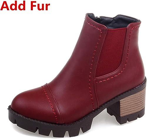 HOESCZS 2018 A la Venta Größes Grandes 33-43 Moda Stiefel Occidentales schuhe de damen schuhe Casuales de damen Botines Calientes Femeninos