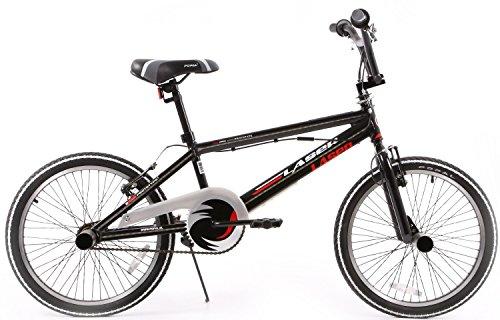 Boy Bike Popal BMX Laser 20 Inch voor en achter V-Brake Zwart 95% Asssembled