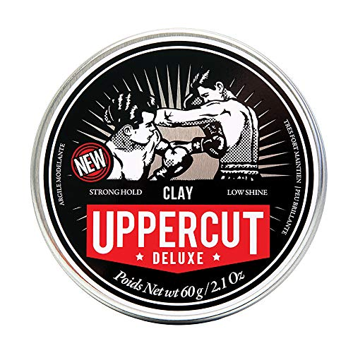 Uppercut Deluxe Texturising Matt Clay Hair Styling Product With A Low Shine Natural Looking Finish Water Based Hair Wax For Men Washes Out Easily - 60g