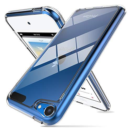 ProCase Funda Transparente iPod Touch 7/6/5, Carcasa Ultra Fina Híbrida con Reverso PC Duro Borde TPU Flexible, Funda Anti Caídas/Golpe/Deslizante/Arañazos para iPod Touch 7.ª 6.ª 5.ª Generación
