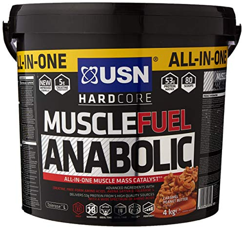 USN Muscle Fuel Anabolic Protein Shake Caramel Peanut, 4 kg