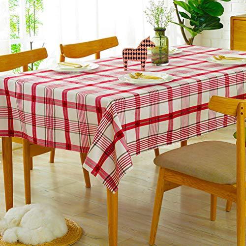 Tina Checkered Rectangle Tablecloth for Fall, Thanksgiving,...