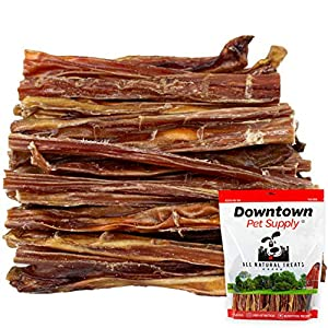 Downtown Pet Supply 12 inch Junior Thin USA Bully Sticks for Dogs (Bulk Bags by Weight) Made in USA – Odorless All Natural Dog Dental Chew Treats (12 Inch, 0.5 LB)