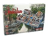 PRO-Lion - Puzzle 3D de Amsterdam de la ciudad antigua (107 piezas, perfecto para una persona a partir de 7 años), multicolor