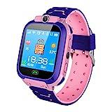 Ajcoflt 1.44'' Kids Smart Phone Watch LBS Tracker SOS Call 2-Way Call Voice Chat Security Zone Setting Flashlight Waterproof