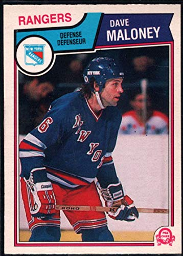 1983-84 O-Pee-Chee Hockey Card #249 Dave Maloney New York Rangers Official OPC NHL Trading Card