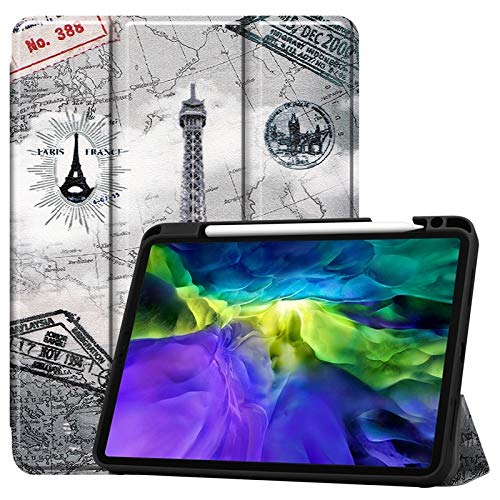 JDDRCASE Tablet case, Ultra Slim PU Leather Auto Sleep/Wake Protective Cover with Pencil Holder Stand Function Case for iPad Pro 11 (2020) (Color : 3)