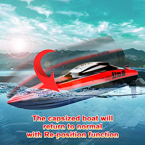 Cheerwing Brushless RC Boat for Adult & Kid, 40 km/h Fast Remote Control Boat for Pools & Lakes