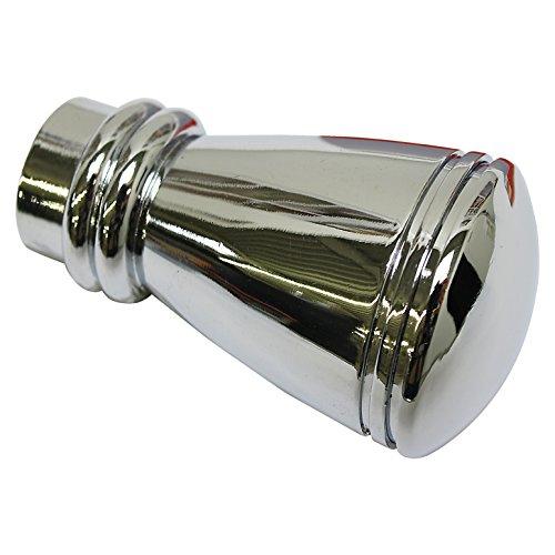 GARDINIA Endknöpfe für Gardinenstangen, 2 x Endstück Siro, Serie Chicago, Metall, Chrom, Durchmesser 20 mm