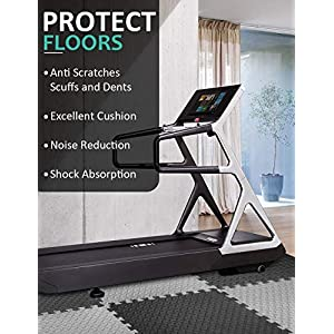 """Puzzle Exercise Mat with 12 Tiles Interlocking Foam Mats, 24'' x 24'', ½'' Thick EVA Foam Floor Tiles, Protective Flooring for Gym Equipment and Cushion for Workouts (½"""" Thick, 48 Square Feet)"""
