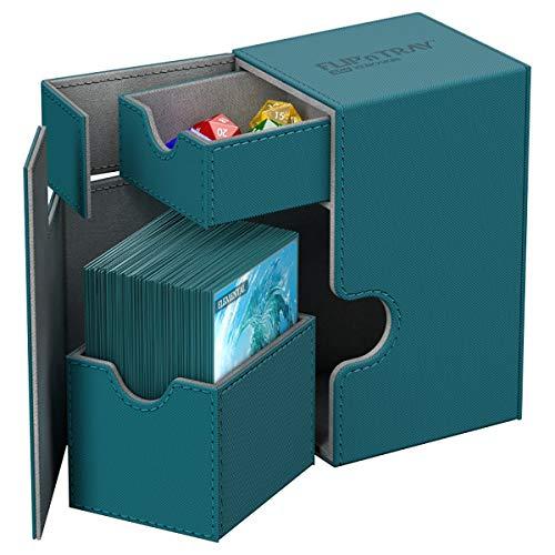 Ultimate Guard UGD010771 Box Flip´n´Tray - Funda para Cubierta (80 Unidades, tamaño estándar), Color Azul