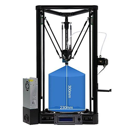 ANYCUBIC Stampante 3D Kossel Plus aggiornato versione Linear con Livellamento Automatico e Assemblaggio Modulare (Aggiornato versione Plus)