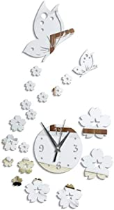 Background Mirror Wall Dimensional Crystal Stickers Decorative Mirror Paste Wall Clocks