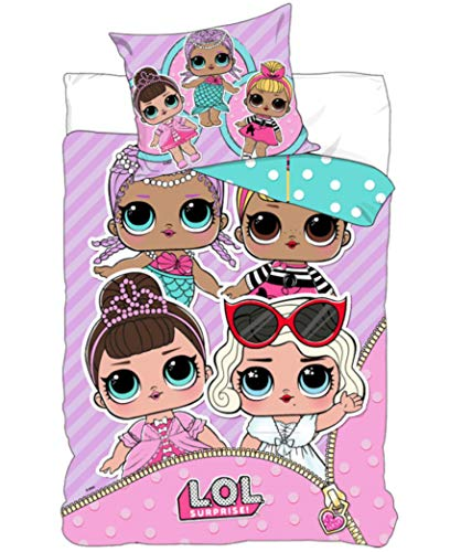 LOL Surprise 'Let's Be Friends' Single Duvet Set with Pillowcase