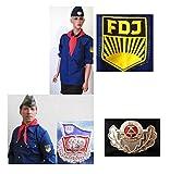 FDJ Hemd FDJ Bluse Käppi Halstuch Fasching Karneval Kostüm Gr. XXXL