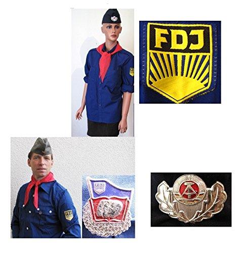 FDJ Hemd FDJ Bluse Gr.M Käppi Halstuch Fasching Karneval Kostüm, Faschingsartikel