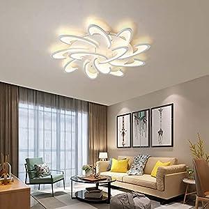OKES Modern LED Ceiling Light,12 Heads Petal Modern Flush Mount Acrylic Ceiling Lamp Chandelier Lighting Fixture for Dining Room,Bedroom Kitchen