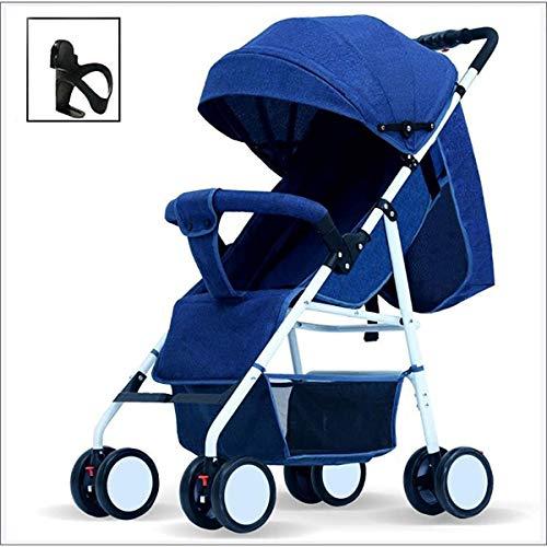 LAZNG Baby-Kinderwagen, Buggy, leichte Spaziergänger Travel Buggy Kinder Spaziergänger Hosenträgergurtsystemen...