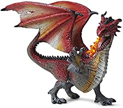 Ancient Realistic Dragon Model Figure Toys, Flying Spitfire Dragon Figurines Collection Hand Painted Dinosaur Gifts