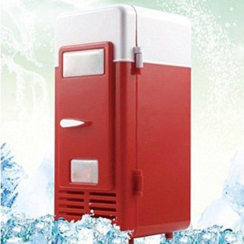 Hwydo Voiture Mini USB Cola Drink Frigo Boissons Can Cooler/Warmer Réfrigérateur Congélateur