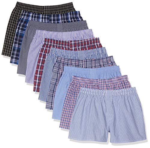 CityLife City Life Boxer Classic Boxershorts, Mehrfarbig (Business Multicolour), Small (Herstellergröße: S), 10er-Pack