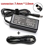 18.5V 3.5A 65W AC Charger Replacement for HP Pavilion DV7 DV6 DV5 DV4 G72 G71 G60 G61 G62 DM4 G6 G7; Presario CQ57 CQ56 CQ62 CQ60; P/N: 693711-001 677774-001 Power Laptop Adapter Supply Cord