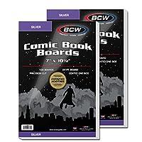 100 シルバー コミック バッキングボード (2パック)