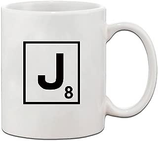 scrabble letter mug j