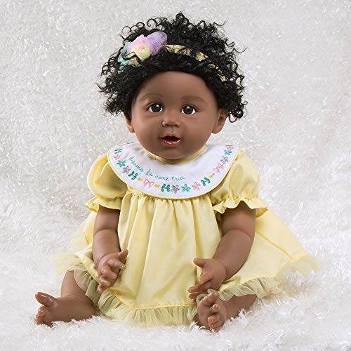 Paradise Galleries African American Black Reborn Baby Doll Rainbow Blessings: Faith, 5-Piece Gift Set, 19 inch GentleTouch Vinyl & Weighted Body