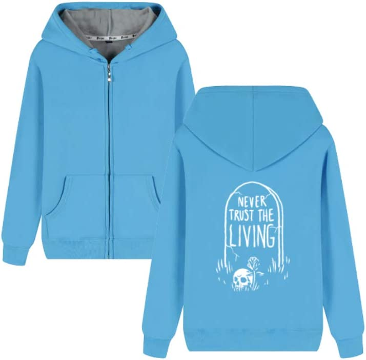 Okjhdfgig Outerwear Beetlejuice Never Trust The Living Long Sleeve Pullover Men (Color : B01, Size : Large)