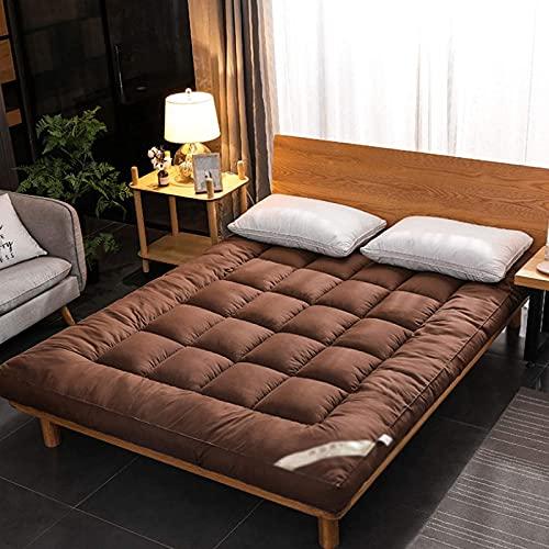 JJDSN Colchón de futón japonés, colchón de Suelo Enrollable Plegable, colchón de Camping portátil para Dormir, Almohadilla de Cama Gruesa y cálida, colchoneta Doble para Dormir