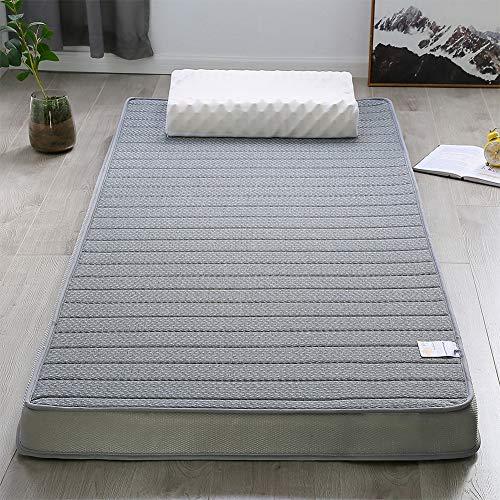 RZH Colchón de Látex,Espuma de Memoria de Alta Densidad Cama Plegable Lavable para Dormir Alfombra Individual Sofá Doble Tatami,Gris,90x200cm(35X78IN)