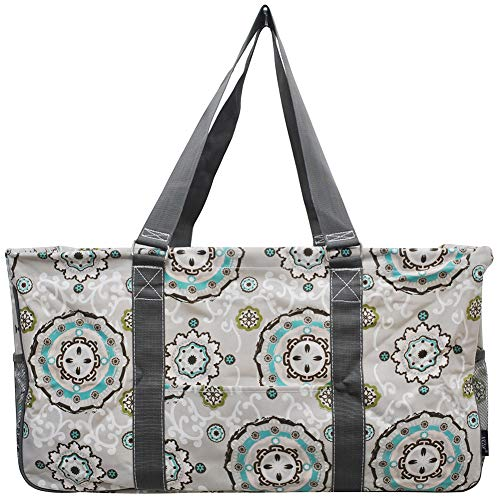 NGIL All Purpose Open Top 23' Classic Extra Large Utility Tote Bag 2019 Collection (Garden View Grey)