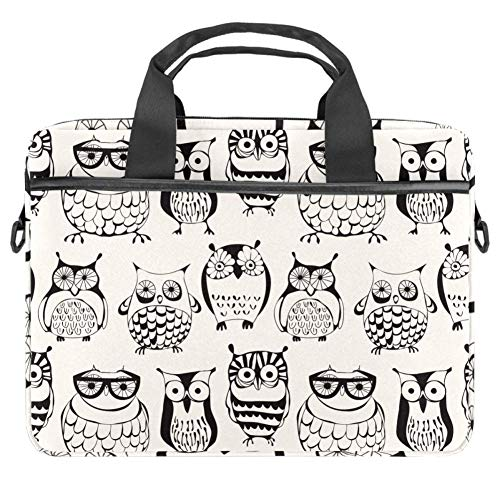 TIZORAX Laptop Bag Owls Family Notebook Sleeve with Handle 13.4-14.5 inches Carrying Shoulder Bag Briefcase