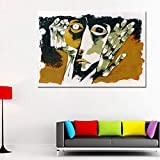 N / A Canvas Painting, Living Room Canvas Painting, Abstract Face and Hand Wall Art, Modern Abstract Art Painting Frameless 50x70cm